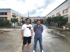 江西郭总到堡润家具漆广东生产基地参观考察