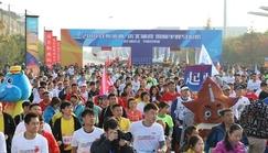 三峰木门全程支持2018沈阳蒲河国际马拉松