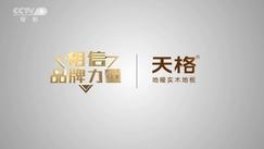 国家平台彰显中国品牌力量 天格新年登央视特别…