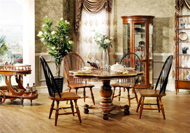 歐式復古家具豪華餐廳裝修效果圖