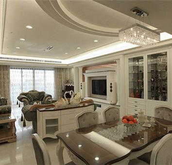 低调奢华新古典客厅装修效果图
