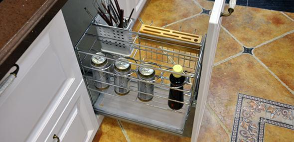 简约装修厨柜拉篮图片集合