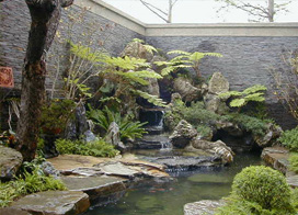 屋顶花园设计,简约别墅客厅背景墙装修效果图