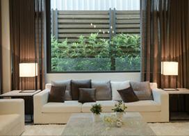 屋顶花园休闲风  简约日式别墅客厅背景墙装修效果图