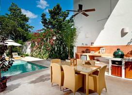 泳池花园洋房,奢华地中海风格别墅装修效果图
