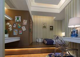 样板房案例,三室两厅两卫装修效果图