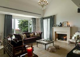 四居室超大户型简欧客厅装修效果图