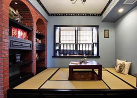 中式古典风格书房榻榻米装修效果图