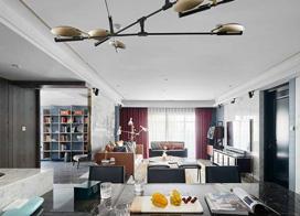 新中式风格图片,150平米四室二厅装修效果图