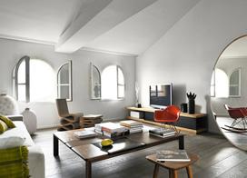 150平米现代简约公寓客厅装修设计图