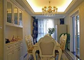 欧式风格两房一厅装修效果图片