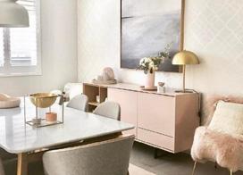 柔粉色少女心72平方的两室两厅装修效果图