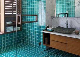 10款绿色系舒适卫生间装修效果图欣赏