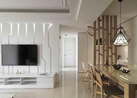 轻装修居宅设计,116平米两房一厅装修效果图