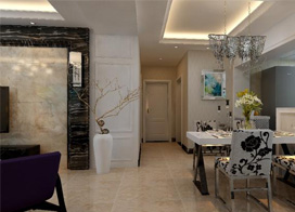 三居室现代简约风格装修图片