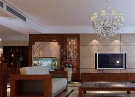 古典与现代的完美结合,中式客厅装修效果图