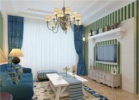 89平米混搭风格两房一厅装修效果图