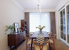 130平休闲简约风格三室两厅装修效果图
