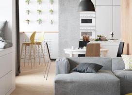 120平米小清新风格复式公寓装修效果图