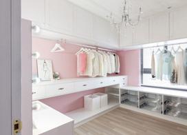 马卡龙色彩美家,90平两室两厅混搭装修效果图