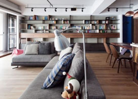 美观与实用兼合设计,116平米三室两厅装修效果图