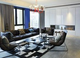 个性混搭私密空间,180平米两房两厅装修效果图