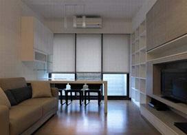 简单主义,56平米现代简约风格装修图片