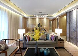 原木清风设计,145平米三房两厅装修效果图