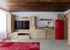 36平米LOFT空间,复古与时尚的一居室小户型装修效果图