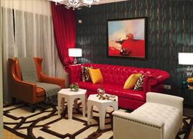 时尚之家 ,98平米两房两厅装修效果图