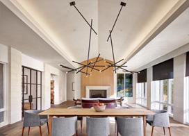 时尚不冷感现代化公寓,135平米两房两厅装修效果图