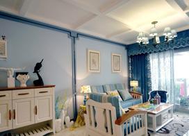 现代风格个性装修,94平米两房两厅装修效果图
