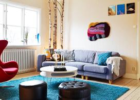 为家添一笔色彩,76平米两房两厅装修效果图