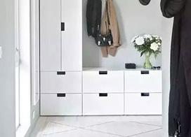美观与实用兼得,11个白色玄关鞋柜效果图