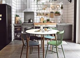 10款开放式厨房设计搭配装修效果图