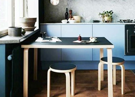 10款冷色系小厨房装修效果图