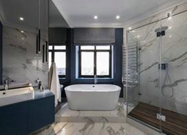 混搭风格的大户型设计,四室二厅装修效果图