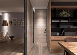 现代灰色调风格,150平米三室两厅装修效果图