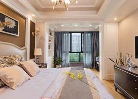 多种元素混合的美感,130平米三室两厅装修效果图