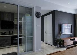 视觉上的震撼,110平米灰色系三室两厅装修效果图