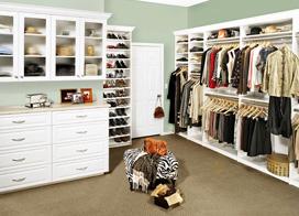 10款卧室开放式衣帽间效果图片,将所有衣服都整齐的摆放起来