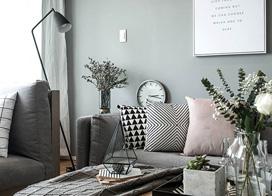 黑白灰三度空间,89平米北欧风两房两厅装修效果图