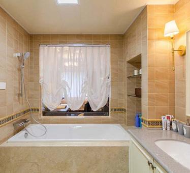 雅致的美式风格设计,170平米大户型三室两厅两卫装修效果图