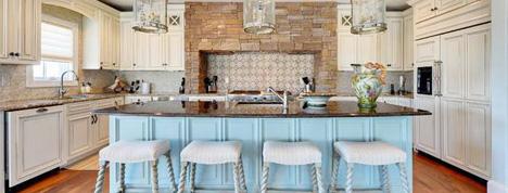 10款餐厅厨房设计图,开放式的厨房很时尚