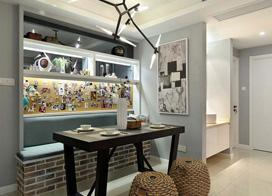 90平混搭风格装修,舒适感与现代感相结合让人喜爱