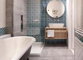 10款簡約衛生間瓷磚效果圖,讓冰冷空間徒增一絲絲的溫暖