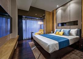 低调而富有质感的巧克力色,120平米三室两厅装修效果图