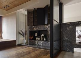 隔断来进行空间分隔,120平米大户型素色调三室一厅装修效果图