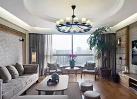 原木设计素雅又大气,160平米三室两厅装修效果图