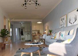 简单舒适大方北欧风格,110平米三室两厅装修效果图
